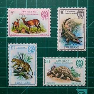 1980 史瓦濟蘭 野生動物 新票一套