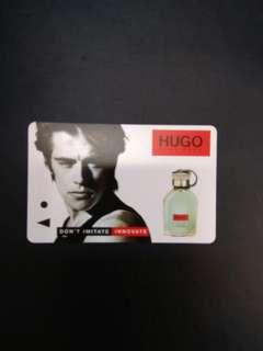 Hugo Boss fragrance 'don't imitate innovate' MRT card