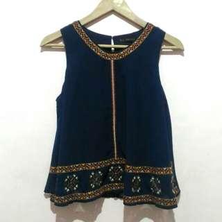 ZARA Embroidered sleeveless top