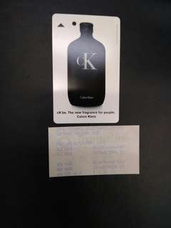 Calvin Klein CK be fragrance MRT card