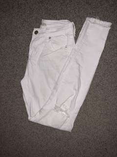 White jeans size small