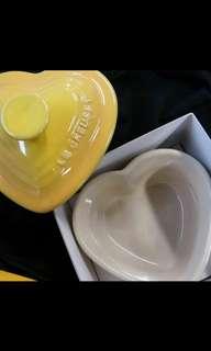 Le Creuset heart shape yellow