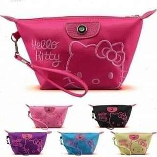 Tas Kosmetik Hello Kitty Bordir + tali