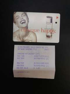 Clinique happy the new fragrance MRT card