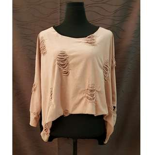 Japanese Fashion Distressed Top