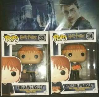[PRE-ORDER] Fred and George Weasley Harry Potter Funko Pop Bundle