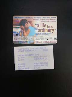 A life less ordinary movie MRT card