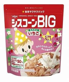 🚚 日本日清 Cisco BIG 麥片-期間限定草莓口味