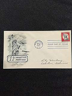 US 1961 11c Statue of Liberty FDC Stamp