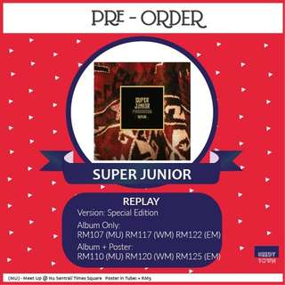 (OUT OF STOCK) SUPER JUNIOR - REPLAY (Special Edition)