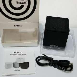 全新Miniso M20便攜方糖藍芽喇叭(黑)