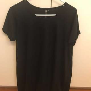 Cotton On basic black cotton shirt dress