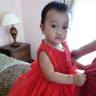Dress tutu merah