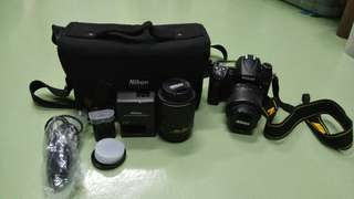 Nikon D7000 with 18-55, 55-200 Lens also with Battery, Memory card,Bag