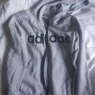 Adidias zip up hoodie
