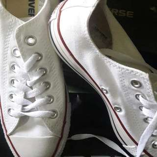 New Sepatu Converse Asli warna Putih Sz 38