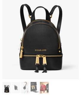 Michael Kors Rhea Mini Perforated backpack