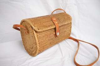 Bali Rectangular Rattan Sling Bag