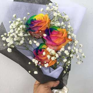 Fresh Colourful Roses Bouquet