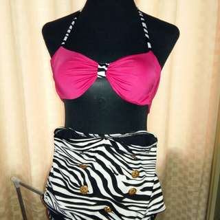 Two-piece High-Waisted Swimsuit