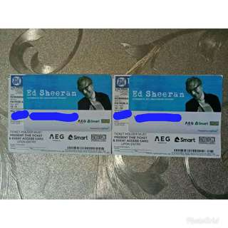 Ed Sheeran in Manila Patron A ticket