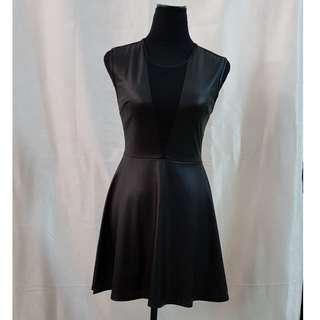 Forever 21 Leatherette Sheer back dress