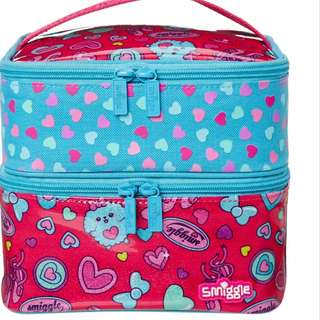 Smiggle squad dual square lunch box Rm59 NEW