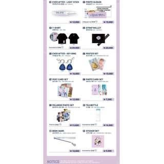 Jeong Se Woon 1st Concert Ever - After Official Concert Merchandise