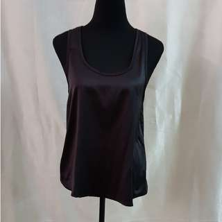 Black silk tank top
