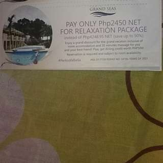 Grand Seas Hotel discount voucher