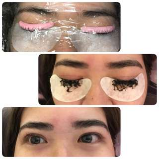 Lash lifting and tinting