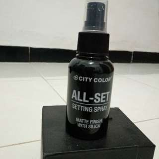 City color all set setting spray matte finish