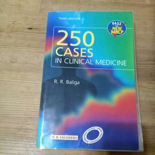 250 cases in clinical medicine by R R Baliga