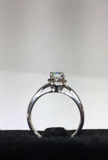 GIA 18K WG diamond ring color F excellent cut
