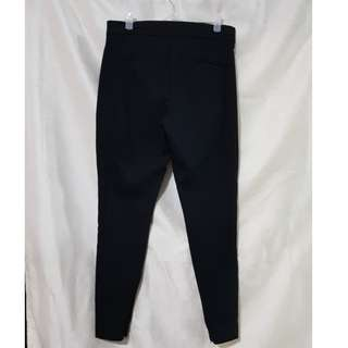 Mango slim fit black pants