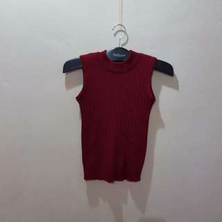 Korean fashion high neck sleeveless crop top NWOT