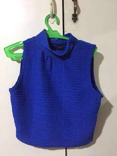 TWO FOR 170 - Sleeveless Turtleneck cropped top