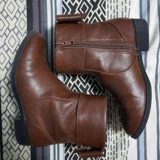Payless Girls Leather Ribbon Back Boots