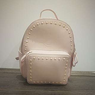 cute + pink mini backpack (with studs)