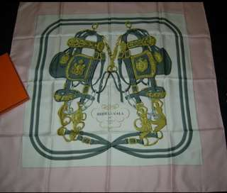 "Authentic HERMES 100% Silk Scarf ""BRIDES de GALA"" 35"" -Excellent unused condition!"
