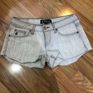 Volcom denim gray shorts