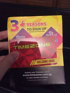 TimeZone Play Card brand new value $100
