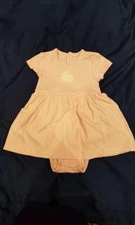 Carter's Baby Girl Dress Romper 9 months