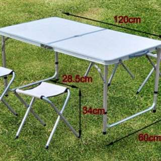 Foldable table with 4 chairs@rm60
