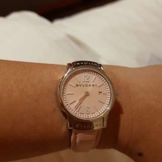 Bulgari baby pink watch