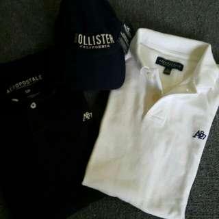 Aeropostale Polo Shirts & Hollister Cap