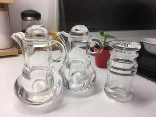 醬油瓶/亞加力膠- 全套三件