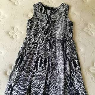 Dorothy perkins snake chiffon dress