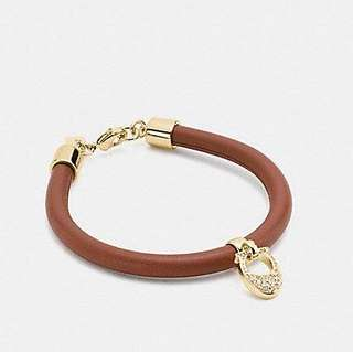 Coach Pave Leather Signature Bracelet
