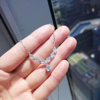 18k 白金 3卡鑽石頸鏈